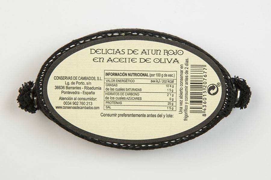 Red tuna delicatessen in olive oil OL-120 [GOURMET]